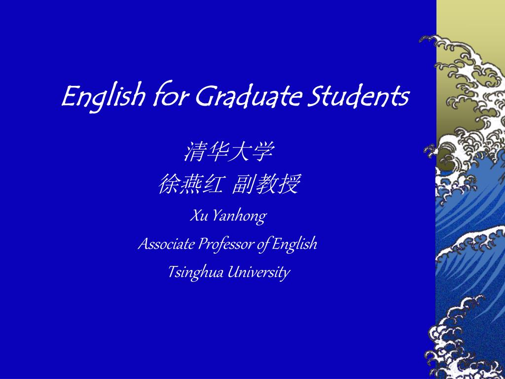 english for graduate students l.