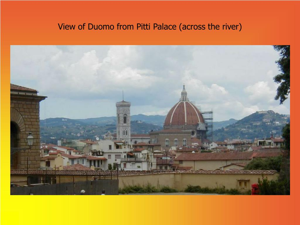 View of Duomo from Pitti Palace (across the river)
