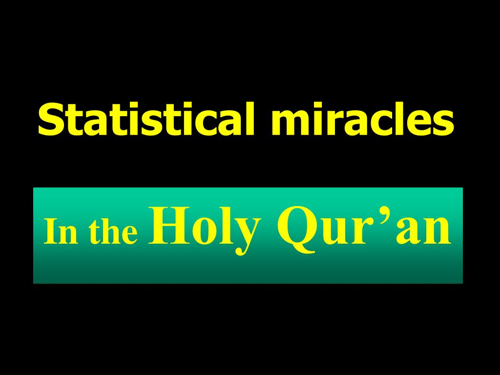 Statistical miracles