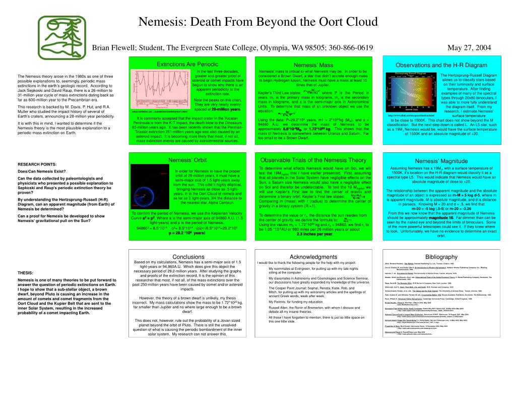 nemesis death from beyond the oort cloud l.