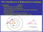the transition to a heliocentric cosmology22