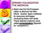 spanish colonization the americas