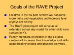 goals of the rave project
