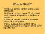 what is rave