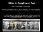 nibiru as babylonian god