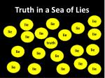 truth in a sea of lies