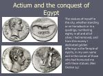 actium and the conquest of egypt