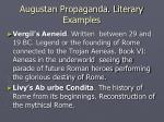 augustan propaganda literary examples