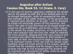 augustus after actium cassius dio book 53 12 trans e cary