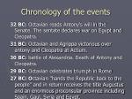 chronology of the events5