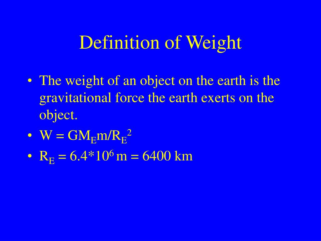 Definition of Weight