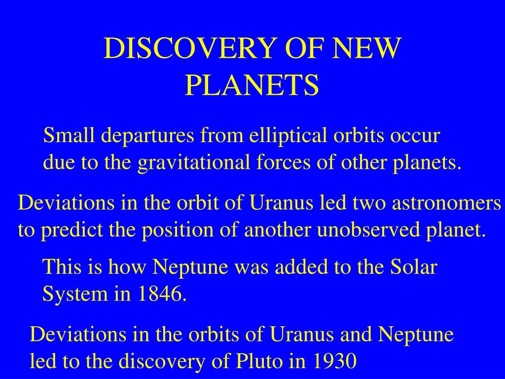 DISCOVERY OF NEW PLANETS