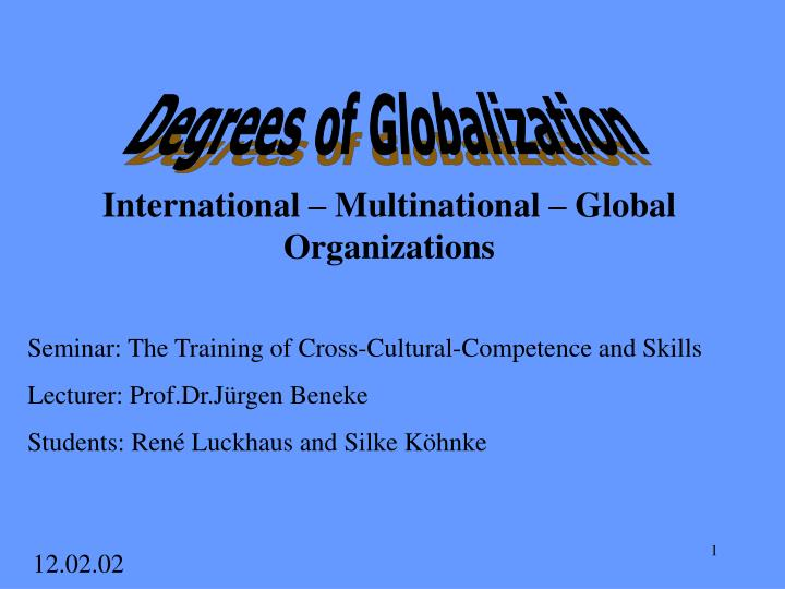 international multinational global organizations n.