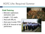rotc life required summer14