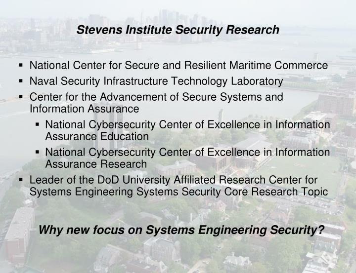 Stevens institute security research