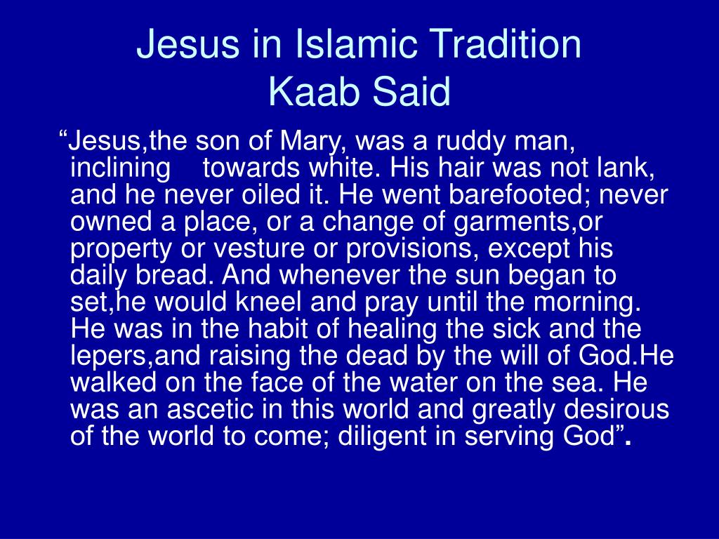 Jesus in Islamic Tradition