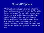 quran prophets