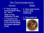 ten commandements quran bible17