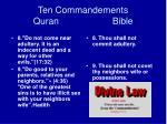 ten commandements quran bible18