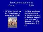 ten commandements quran bible19