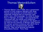 thomas merton sufism