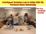 intelligent robotics lab in suite fab 70 portland state university