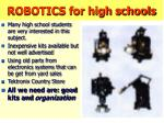 robotics for high schools