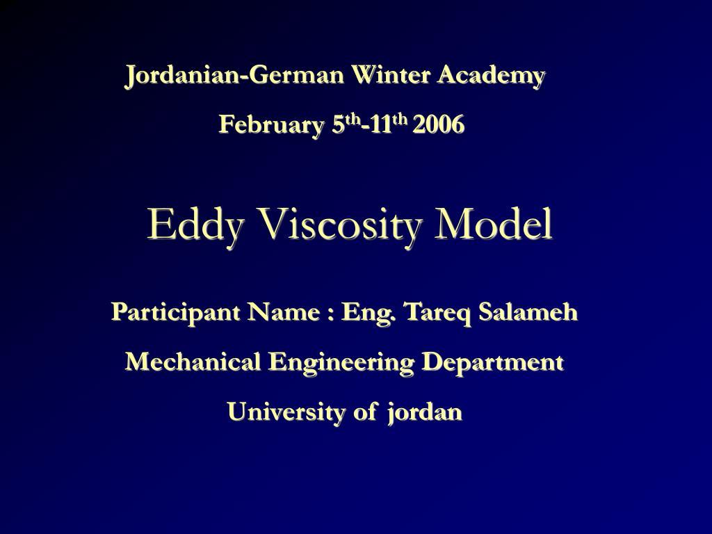 eddy viscosity model l.