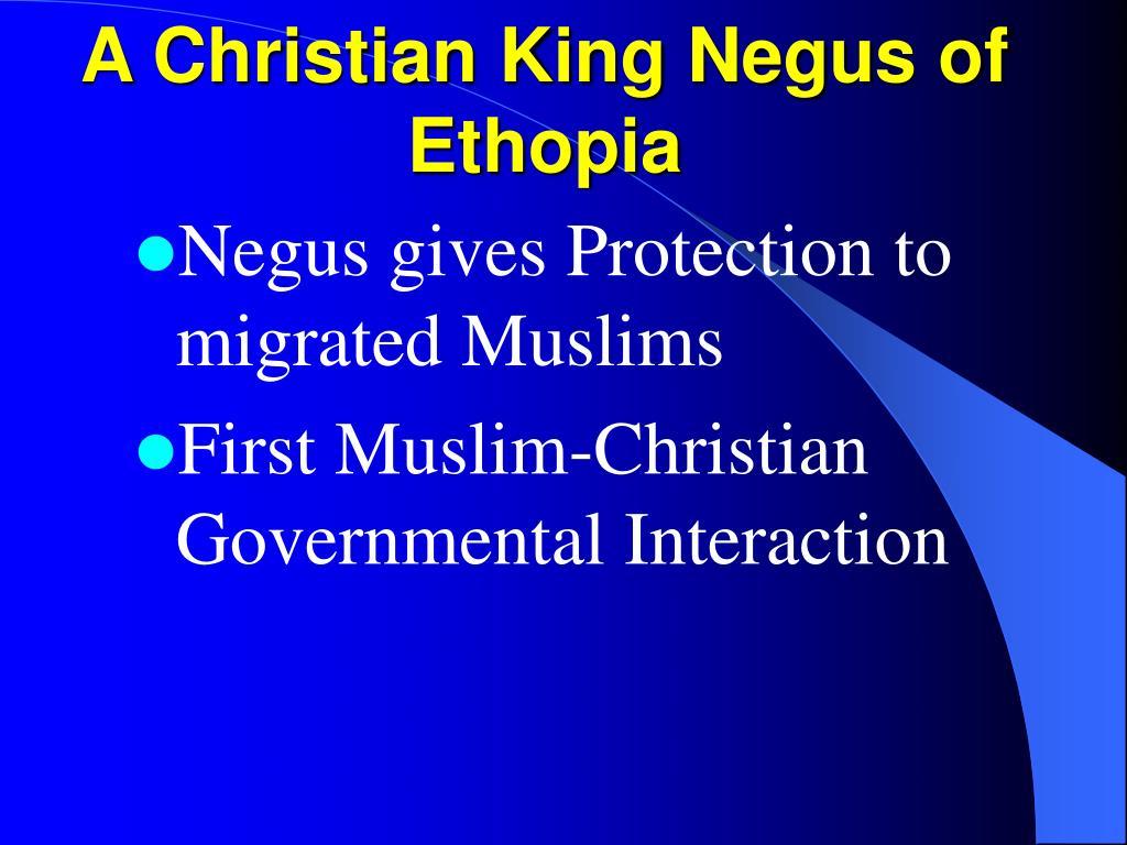 A Christian King Negus of Ethopia
