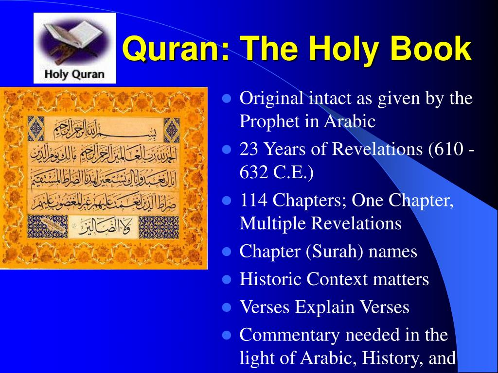 Quran: The Holy Book