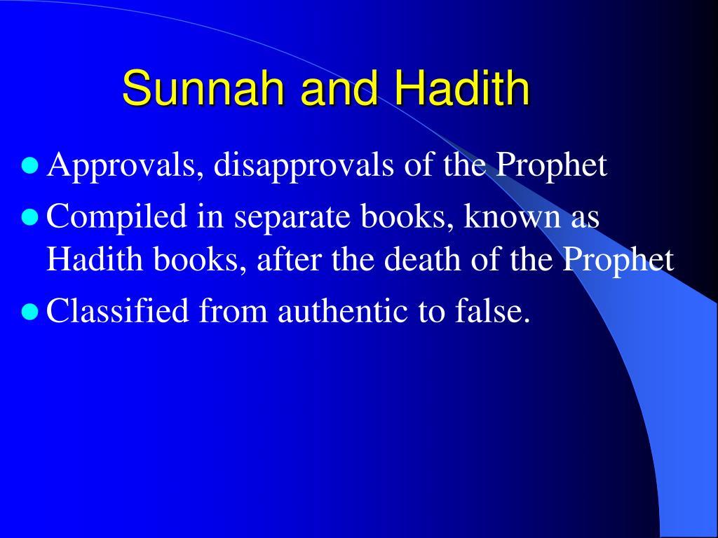 Sunnah and Hadith