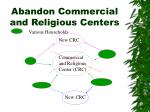 abandon commercial and religious centers