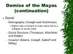 demise of the mayas continuation33