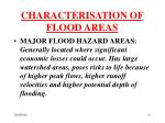 characterisation of flood areas