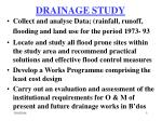 drainage study