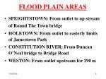 flood plain areas