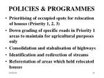 policies programmes