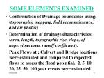some elements examined
