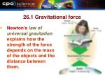 26 1 gravitational force