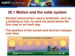 26 1 motion and the solar system