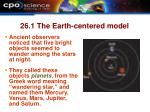 26 1 the earth centered model
