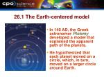 26 1 the earth centered model1