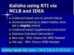 kalisha using rti via nclb and idea