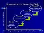 responsiveness to intervention model