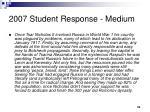 2007 student response medium