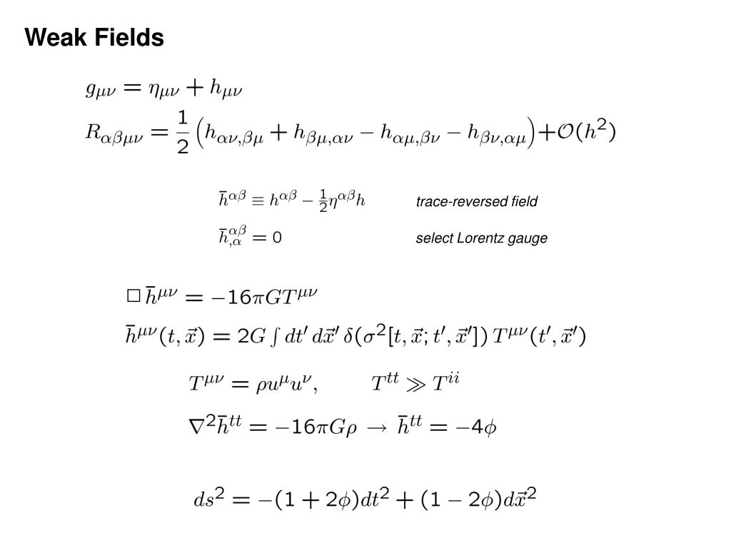 Weak Fields