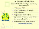 a separate universe sire s subtitle the new age spirituality without religion