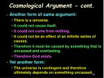 cosmological argument cont