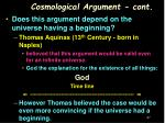 cosmological argument cont1