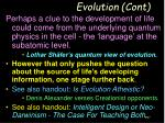 evolution cont1